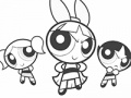 Hra Powerpuff Girls Coloring Online hry. Zahrajte si on-line